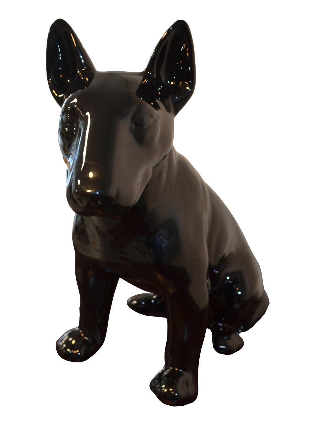 Animart deco sculpture chien bull terrier statue en for Statue en resine pour jardin
